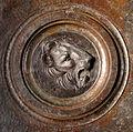 Lorenzo ghiberti e aiuti, porta nord del battistero di firenze, retro con teste leonine, 10.JPG