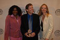 Loretta Devine, David E. Kelley, and Jeri Ryan, May 2003 (4).jpg