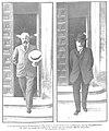 Los procesados Francisco Ferrer y José Nakens saliendo de la Audiencia el día en que terminó la vista de la causa de la bomba, Nuevo Mundo, 27-06-1907.jpg