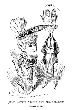 Charles Brookfield - Brookfield and Lottie Venne