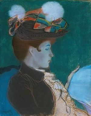 Louis Anquetin - Reading Woman, 1890, pastel on paper