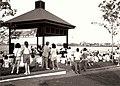 Louis Armstrong Classic Jazz Festival 1990, Woldenberg Park, New Orleans - Danny Barker band under the Pavillion.jpg