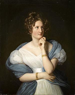 Delphine de Girardin - A painting of Delphine de Girardin, by Louis Hersent