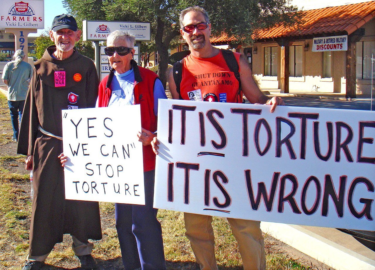 protest against US policy on torture