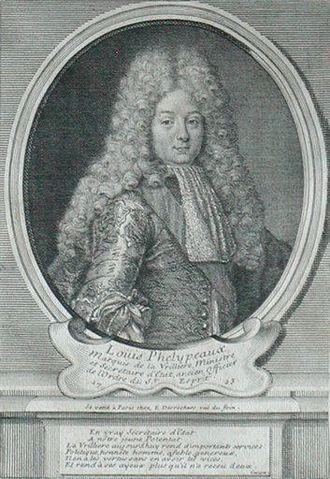 Louis Phélypeaux, marquis de La Vrillière - An engraving of Louis Phélypeaux, marquis de La Vrillière (1723).