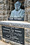 The memorial is built out of sandstone. The memorial was erected in honour of Louw Wepener who had fight in the Basoeto War. In August 1865 Type of site: Grave, Memorial Previous use: Memorial. Current use: Memorial.