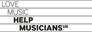 Help Musicians UK - Image: Love Music Help Musicians UK logo black pantone coated