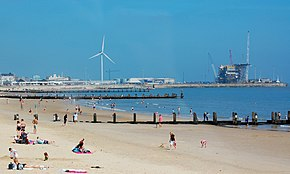 Lowestoft beach and outer harbour.jpg