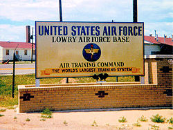 Lowry AFB Sign 1970.jpg