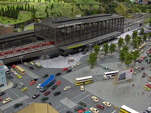 Rail transport modelling - A scale model of Berlin's Bahnhof Zoo at the LOXX Berlin model railway.