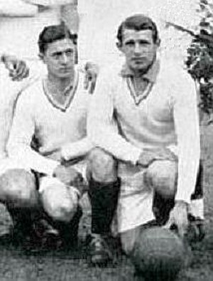 History of the France national football team - Lucien Laurent and Marcel Langiller at the inaugural World Cup