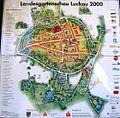 Luckau Landesgartenschau Hinweisschild 2000.jpg