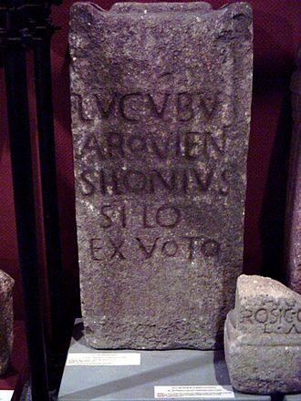 Lugus - Votive inscription to Lugus. Lugo, Galicia.