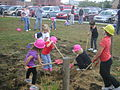 Ludington library children ground breaking.jpg