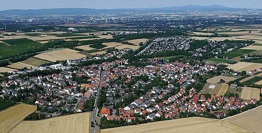 Luftaufnahme von Klein Winternheim 2015
