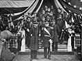 Luigi Amedeo of Savoy, Duke of Abruzzi with General Ulysses Grant, commander of the New York military division.jpg