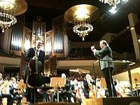 Mørk, Marriner, Orquesta Nacional de España, Auditorio Nacional, Madrid, 1 de febrero de 2015.jpg