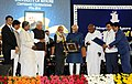 M. Hamid Ansari presenting the 'Bharat Ratna Sir M. Visveswaraya Centenary Award for Innovation in Technology' to the Chairman, ISRO, Prof. A.S. Kiran Kumar.jpg