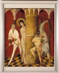 Middelrijns altaar, geseling van Christus