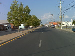 A view of Maryland Route 413 in Crisfield, Mar...