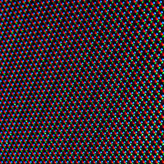 LED display - Detail view of a LED display with a matrix of red, green and blue diodes