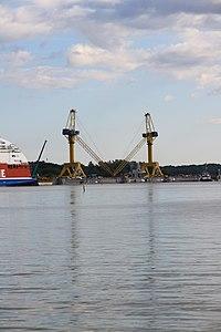 MS Viking Grace, Pernon telakka, Hahdenniemen venesatama, Raisio, 11.8.2012 (13).JPG