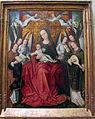 Maestro delle foglie ricamate, madonna col bambino e angeli, bruxelles 1500 ca..JPG