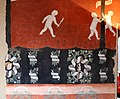 Maestro lombardo, puttini tra alberi con cartigli, finti drappeggi e stemmi araldici, 1423, 03.jpg