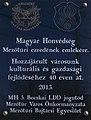 Magyar Honvédség Mezőtúri ezredének emléktáblája, Rákóczi Ferenc út, 2019 Mezőtúr.jpg