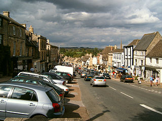 Burford town and civil parish in West Oxfordshire, Oxfordshire, England