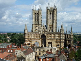 Vista da Catedral de Lincoln.