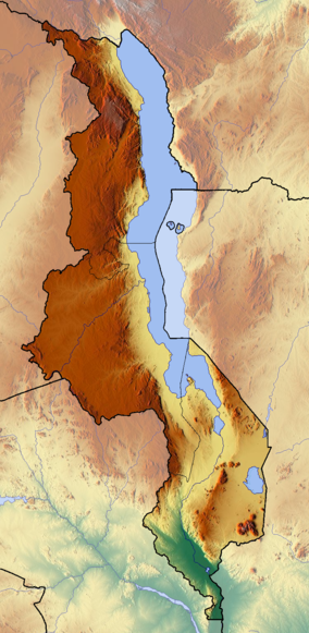Map showing the location of Mwabvi Wildlife Reserve