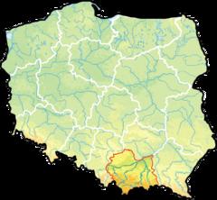 Województwo małopolskie na mapie Polski