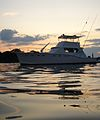 Manhasset Bay Moored Boat at Sunset 2.jpg