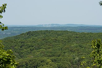 Manistee National Forest - A scenic overlook atop a hill in the Manistee National Forest