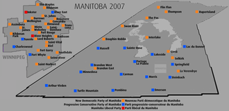 Manitoba general election, 2007 - Riding-by-riding results