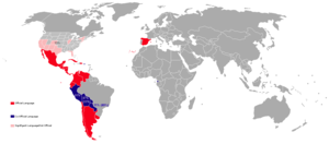Countries with Spanish as official language an...