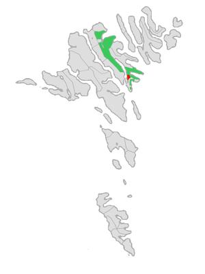Runavík - Image: Map position runavikar kommuna 2009