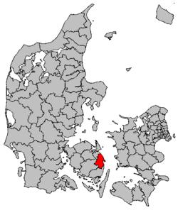 Lokalisering af Nyborg Kommune
