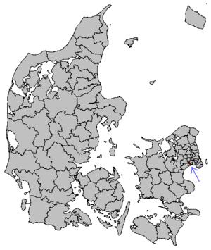 Vallensbæk Municipality - Image: Map DK Vallensbæk