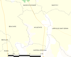 Ayguetinte - Ayguetinte and its surrounding communes