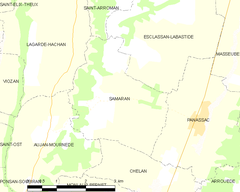 Map commune FR insee code 32409.png