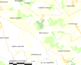 Mapa obce Beaussault