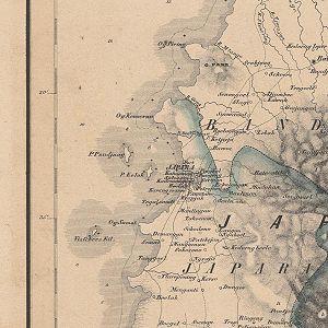 Jepara - 1858 map of Jepara
