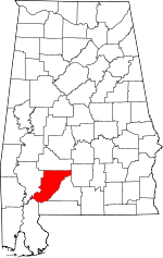 Map of Alabama highlighting Monroe County.svg
