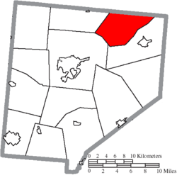 Location of Wilson Township in Clinton County