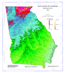 Map of Georgia elevations.png