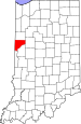 Map of Indiana highlighting Warren County.svg