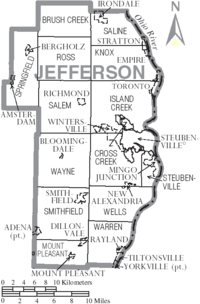 Jefferson County Ohio Wikipedia - Ohio map counties