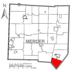 Map of Liberty Township, Mercer County, Pennsylvania Highlighted.png